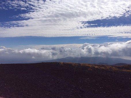 Sea Of Clouds, Blue Sky, Gotemba-shi
