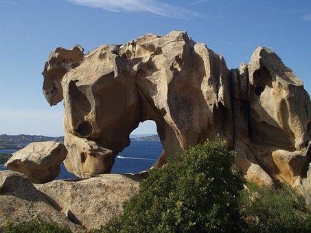 Sardinia, Capo D'orso, Bear, Granite, Cliff, Rock