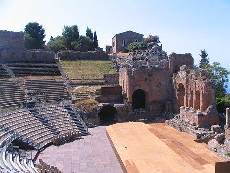 Greek Theatre, Taormina, Sicily, Italy