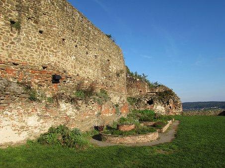 Castle Wall, Castle, Middle Ages, Güssing