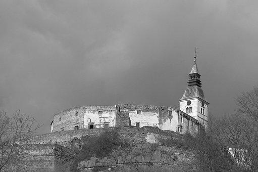 Castle, Güssing, Gloomy, Mood
