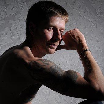 Man, Body, Male, Naked, Tattooed Man, Muscles, Tattoo