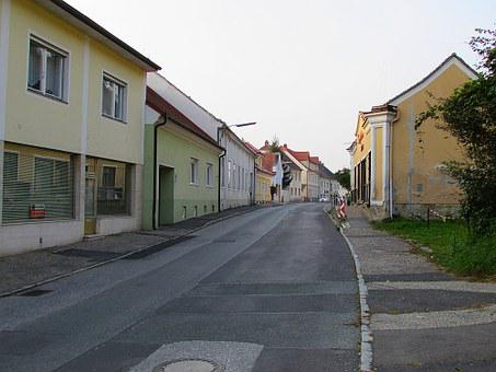 Alley, Old Town, Homes, Building, Güssing