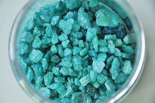 Blue, Rocks, Jar, Decor