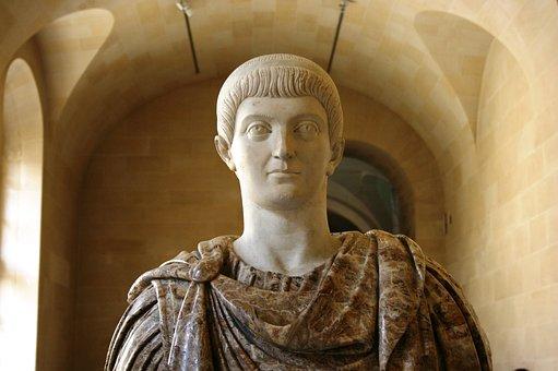 Constantino, Roman Emperor, Sculpture, Louvre
