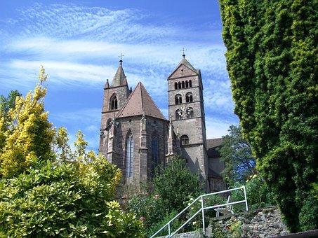 Breisach, Münster, Sky, Blue, Church, Architecture