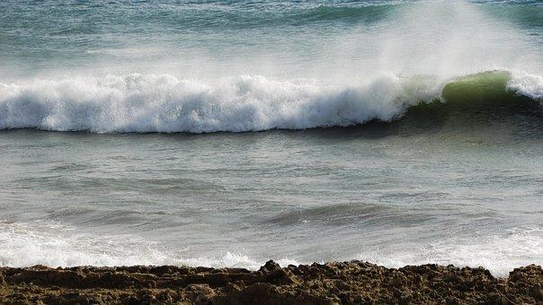 Wave, Smashing, Beach, Sea, Nature, Coast, Splash