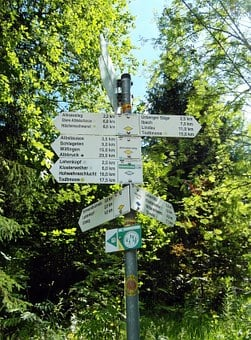 Directory, Trail, St Blasien, Black Forest, Hiking
