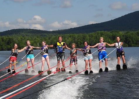 Family, Sports, Waterskiing, Summer