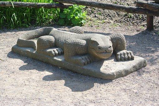 Lizard, Sculpture, Statue, Fig, Art