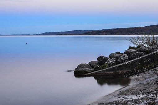 Beach, Yverdon, Lake, Neuchâtel, Switzerland, Blue