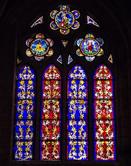 Stained Glass Window, Cathedral, Colres, Light