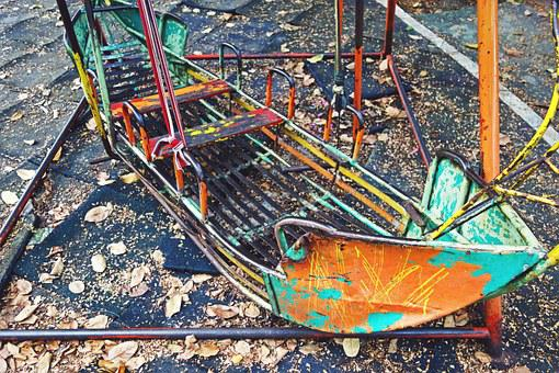 Park, Closed, Abandoned, Playground, Creepy, Rusted