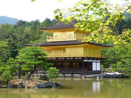 Summer, Temple Of The Golden Pavilion, Japan