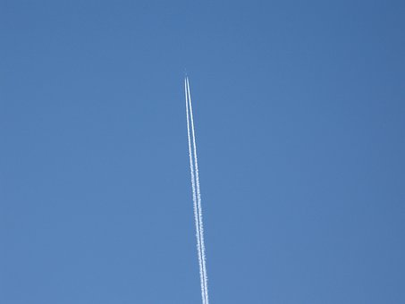 Contrails, Vapor Trails, Jet Trails, Jet, Jet Plane