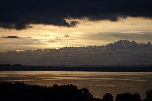 Sky, Lake, Clouds, Alps, Switzerland, Neuchâtel