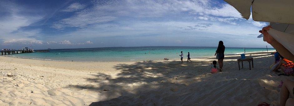 Thailand, Pp Island, Blue Sky, White Cloud, Sea, Beach