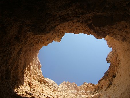 Rock, Hole In Rock, Sky, Portugal, Nature, Landscape