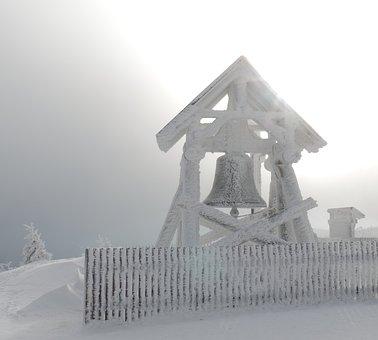 Bell, Ice, Snow, Mountain, Winter