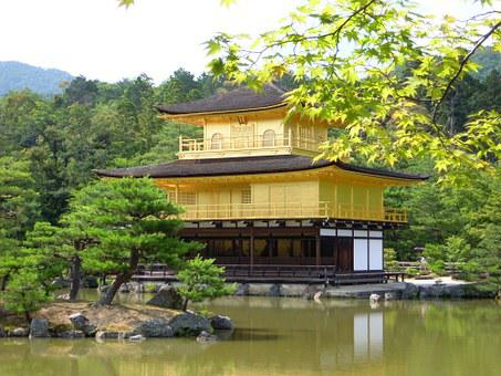 Summer, Temple Of The Golden Pavilion, Japan
