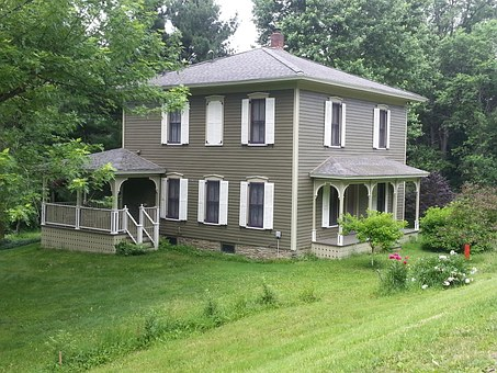 House, Country, Home, Residential, Old, Two Story