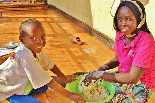 Orphanage, Africa, Tanzania, Making Bread, Baking