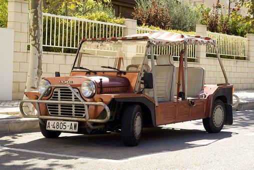 Mini Moke, Car, Vehicle, Classic Car, Transportation