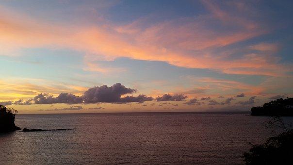Sunset, Ocean, Sea, Water, Clouds, Lake, Off Shore