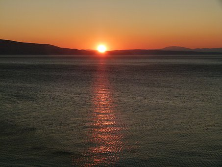 Sunset, Sea, Croatian Country, Beach