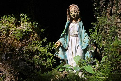 Statue, Symbol, Figure, Mother, Maria, Nature, Forest
