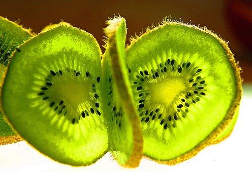 Kiwi, Fruit, Disc, Frisch, Cut