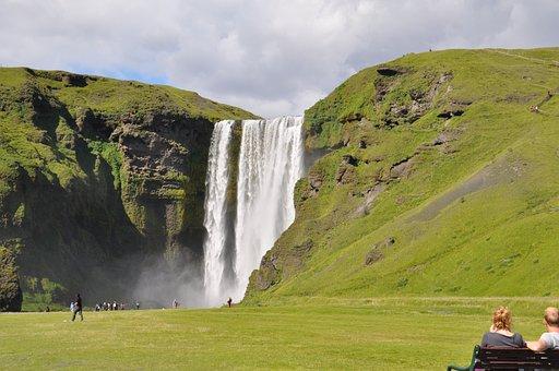 Iceland, Bílá, Skogafoss, Nature, Landscape