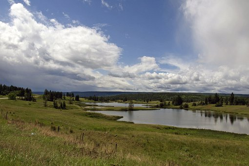 Lakes, Thunderstorm, Landscape, Cariboo
