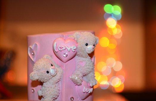 Love, Bokeh, Cup, Mug, Pink, Romantic, Valentine