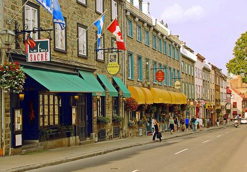 Canada, Quebec, Old Quebec, Lower Town, Grand Street