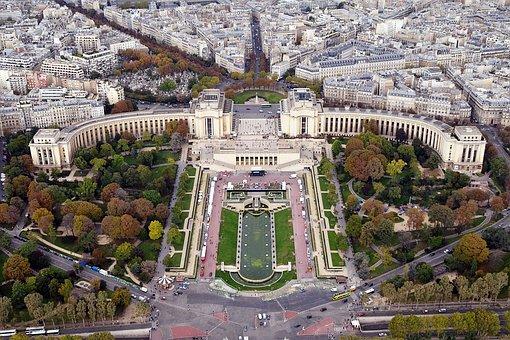 Palais De Chaillot, Palace, Building, Park, Garden