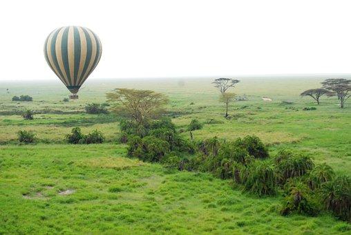 Balloon, Serengeti, Tanzania, Africa, Hot Air Balloon
