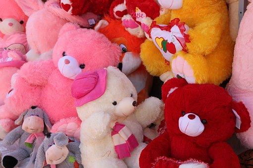 Bear, Plush, Rabbit, Stuffed, Teddy, Toys, Valentine