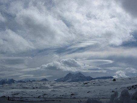 Grimsel Pass, Winter, Swiss, Alpine, Lake, Cold