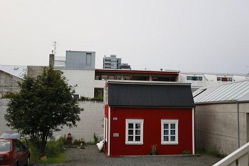 Rejkjavik, The City Centre, Iceland, Little Red Cottage