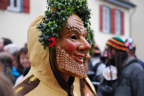Carnival, Shrovetide, Mask, Germany, Parade, Wheat