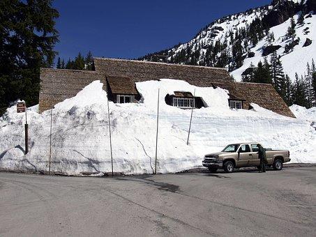 Snowbound, Snowed In, Winter, Building, House, Scenery