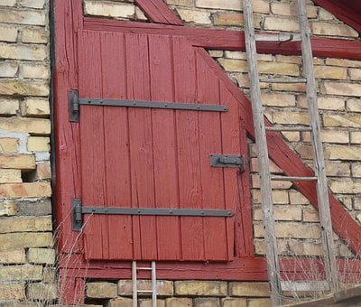 Door, Wooden Door, Roof Barn Door, Rustic