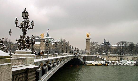 Paris, France, Pont Alexandre Iii, Bridge, Buildings