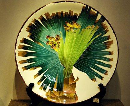 China, Guangdong, Ceramic, Flat, Decoration, Crafts