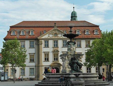 Paulibrunnen, Fountain, Water Fountain, Gain, Bavaria