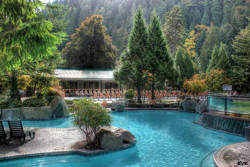 Pool, Harrison, Hotsprings, Water, Trees, Outdoor