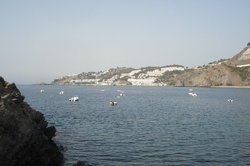Almuñecar, Landscape, Sea, Lake, Water, Mountains