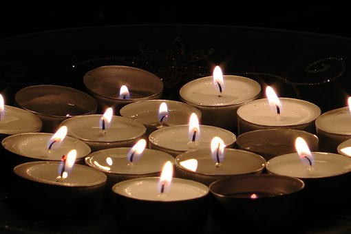 Tea Candles, Candle, Flame, Inside, Fire, Light, Macro