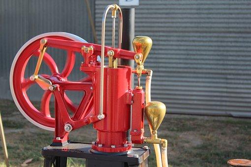 Single Cylinder, Engine, Machine, Vintage, Antique, Old